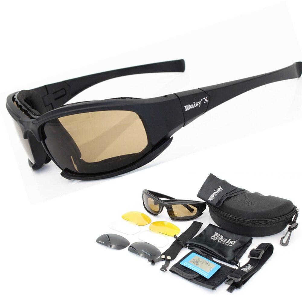 Daisy X7 gläser Männer Military polarisierte Sonnenbrille kugelsichere airsoft schießen Gafas rauch objektiv Motorrad Radfahren Brille C5