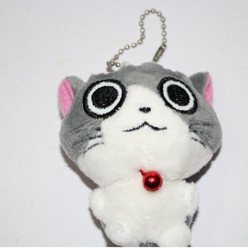 Kawaii серый сидя 9 см кошка плюшевые мягкие игрушки, букет подарок мягкая плюшевая кошка кукла, брелок с котом плюшевая игрушка цветок кошка кукла подарок - Цвет: F 5cm