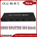 2pcs/lot HDMI 1.3b Video Switch 4 Port HDMI Splitter 1.3 1 x 4 1080P HDTV PS3 DVD 4k HDMI Splitter Amplifier with Power Adapter
