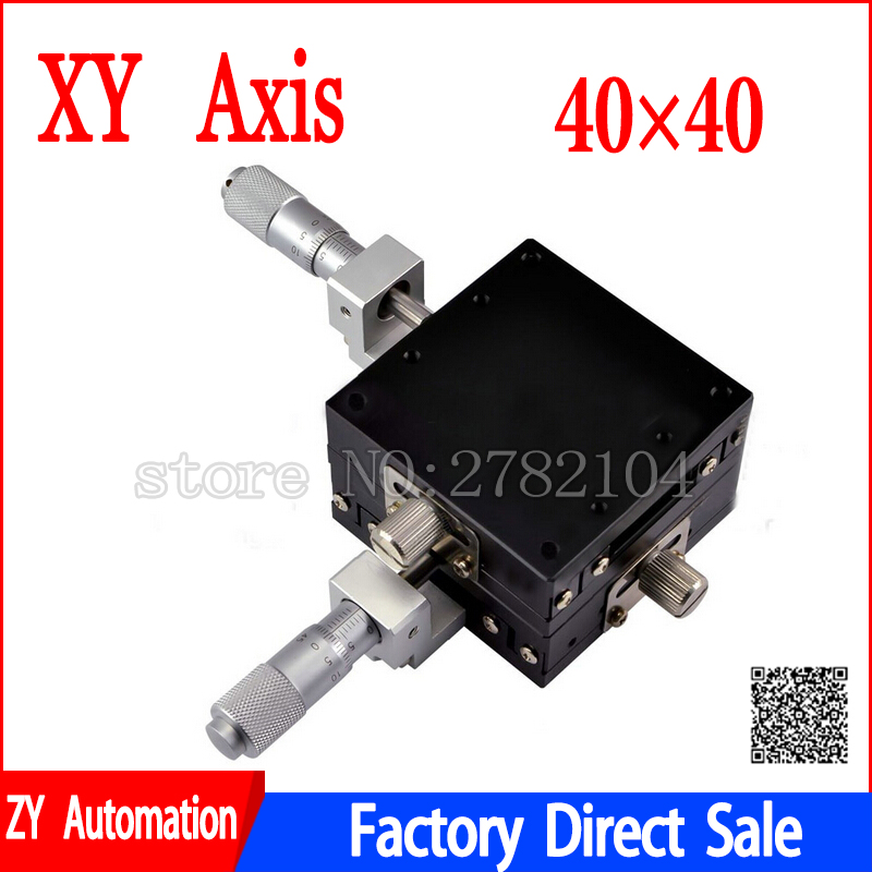 XY Axis 40*40  Manual Displacement Platform Micrometer Sliding stage Steel ball guide XY40-C,LGY40-R,XY40-L
