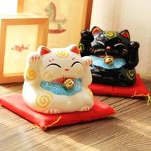 1PC Zakka Ceramic Piggy Bank Black and White Cat Creative Home Furnishing Ornaments Money Boxes NL 001