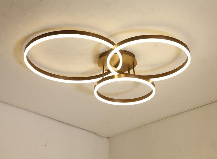 Plafond moderne à LEDs luminaire pour salon salle à manger chambre Lustres LED lustre plafonnier lampara déco techo luminaires