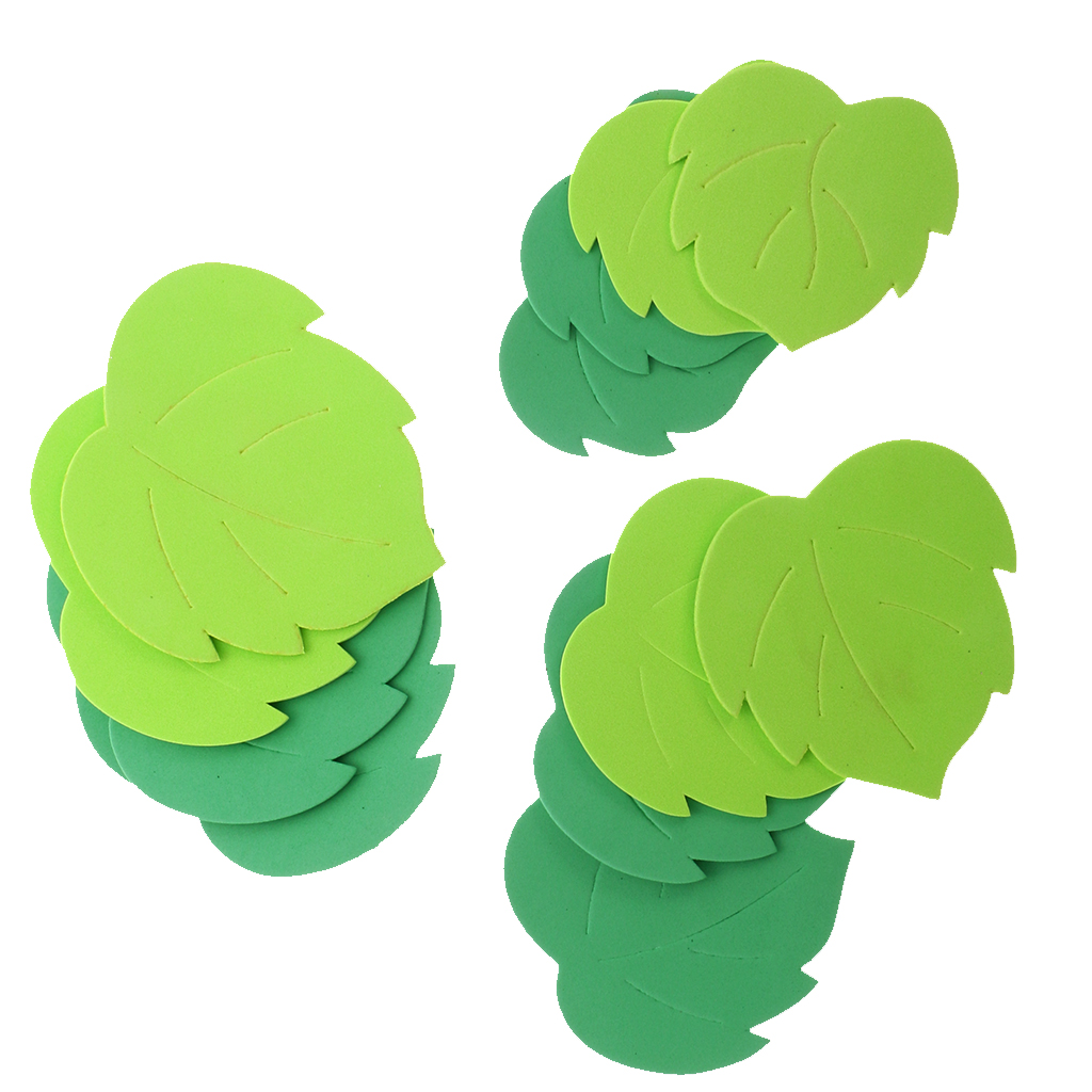 New 12pcs Foam Shapes Leaves Embellishments for Kids Craft Scrapbooking Card Making DIY Wedding Party Home Decoration Accessory