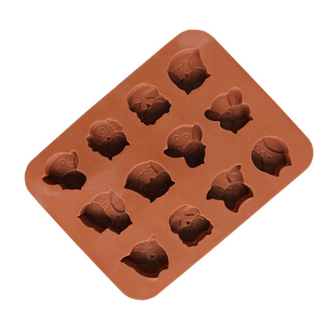 Dropshipping 12 Owls Silicone Cake Bread Chocolate Jelly Candy Baking Mould Craft Mold Lahore