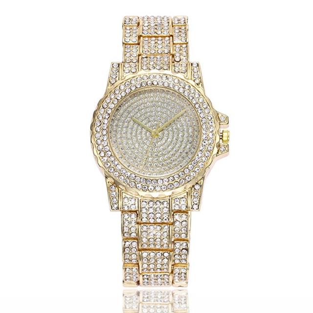 Women Fashion Stainless Steel Band Analog Quartz Round Wrist Watch Watches Relog