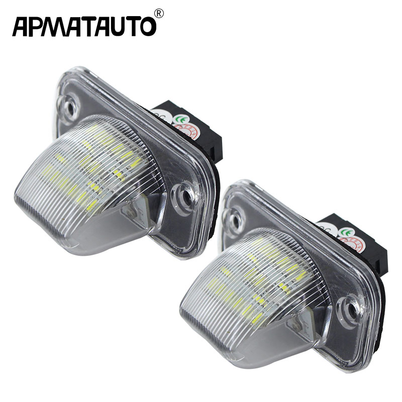 2x Error Free 18 SMD White LED License Plate <font><b>Light</b></font> Number-plate Lamp Auto Turn Signal For <font><b>VW</b></font> Transporter <font><b>T4</b></font> Passat 1990-2003 image