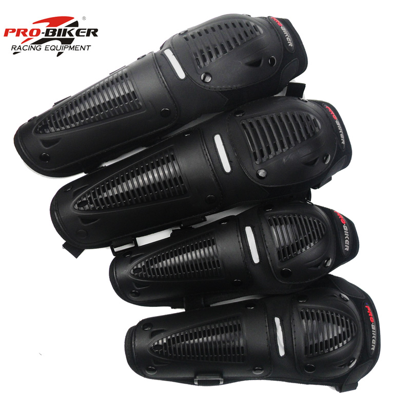 Chcyclemoto Store Pro-biker 4 pcs/1set elbow  motorcycle protective kneepad motocross protector security guard accessories Motocross Parts