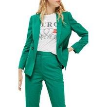 Fashion Casual Women Business Suits Formal Work Wear 2 Piece Sets Slim Female Office Uniform Styles Ladies Elegant Pant Suits