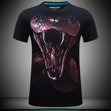 t-shirt 3d 2016 New Fitness Shirt Men Bodybuilding Increase code Short sleeve 3D T Shirt Cross fit Tops Shirts funny t-shirt