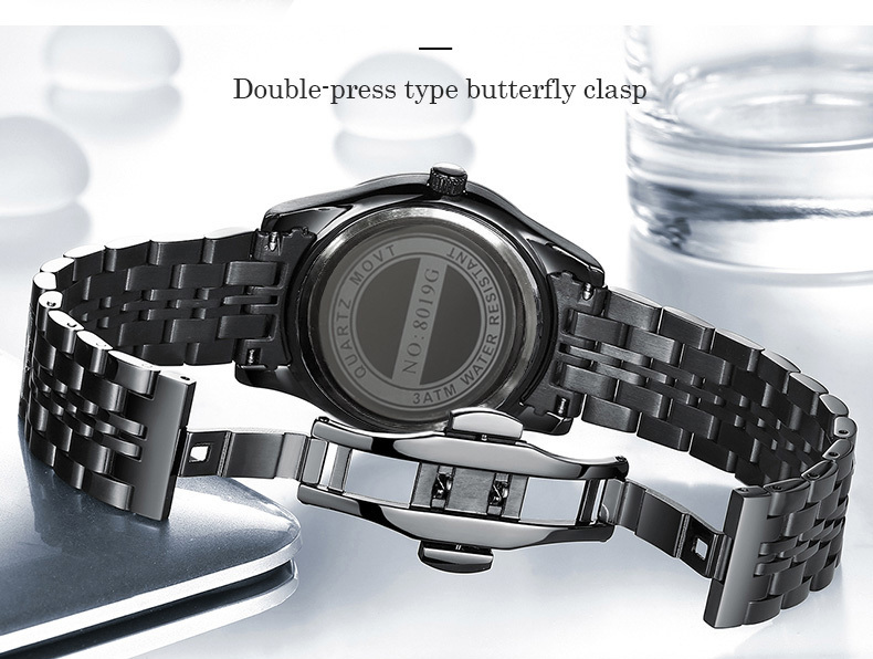 ANANGELA BOS Business Thin Black Horloge Heren Luxe Beroemde Merk - Herenhorloges - Foto 5
