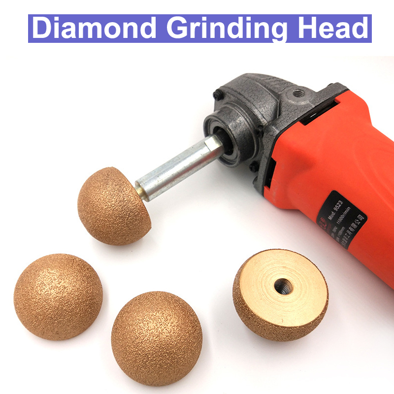 M10x50mm Vacuum Brazed Diamond Polishing Grinding Head Pebble Tool Diamond Burrs Stone Marble Granite Brick Glassess цены