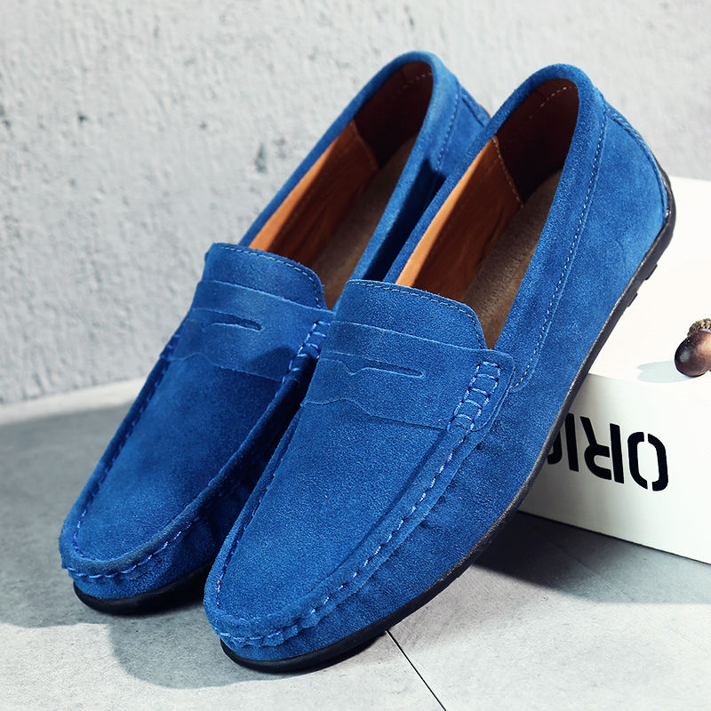 TOURSH 2018 Fashion Men Shoes Men Loafers Driving Moccasins Gommino   Suede     Leather   Men Casual Shoes Slip On Men'S Flats Loafers