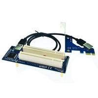 PCI E Express X1 to Dual PCI Riser Extender Card