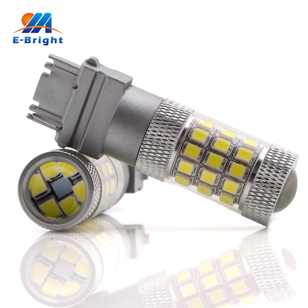1pcs 2835 42 SMD Led Bulb 3156 T25 Stop Brake Backup Turn Driving Leds Tail Lamp White Amber Red Color 12V 24V Free Shipping 3156 12w 600lm osram 4 smd 7060 led white light car bulb dc 12v
