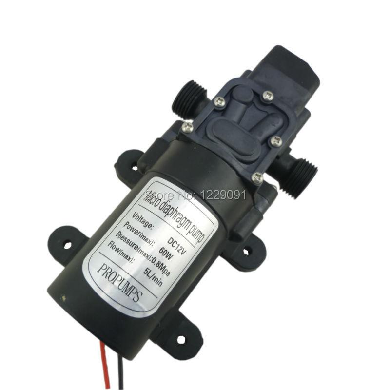 Dc 12v 24v Water Pump Pressure Switch Automatic On Off 60W 5LPM High Pressure Self Priming Diaphragm Water Pump