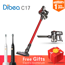 Now Wireless Vacuum Cleaner Quiet Mini car Home Rod Portable Dust Collector Home Aspirator Handheld Cleaning Collector Dibea C17(China)