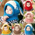 Toddler Kids Girls Boy Hats Coif Hood Kintted Woolen Scarves Caps Winter Warm Cap