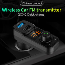 Voor Android Bluetooth Car Kit MP3 Speler Fm-zender Draadloze Radio Adapter USB Charger Auto Adapter Dropshipping Voiture(China)