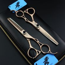 Freelander Japan Steel 440C Barber Hairdressing Scissors Cutting Shears Thinning Professional Human Hair