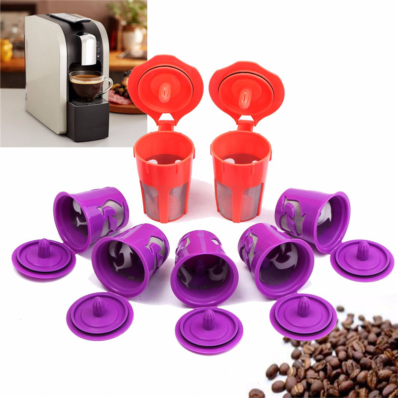 Best Price Morden 7Pcs K-Cup K-Carafe Reusable Refillable Coffee Filter Capsule For Keurig 2.0 Perfect Gift For Coffee Lovers