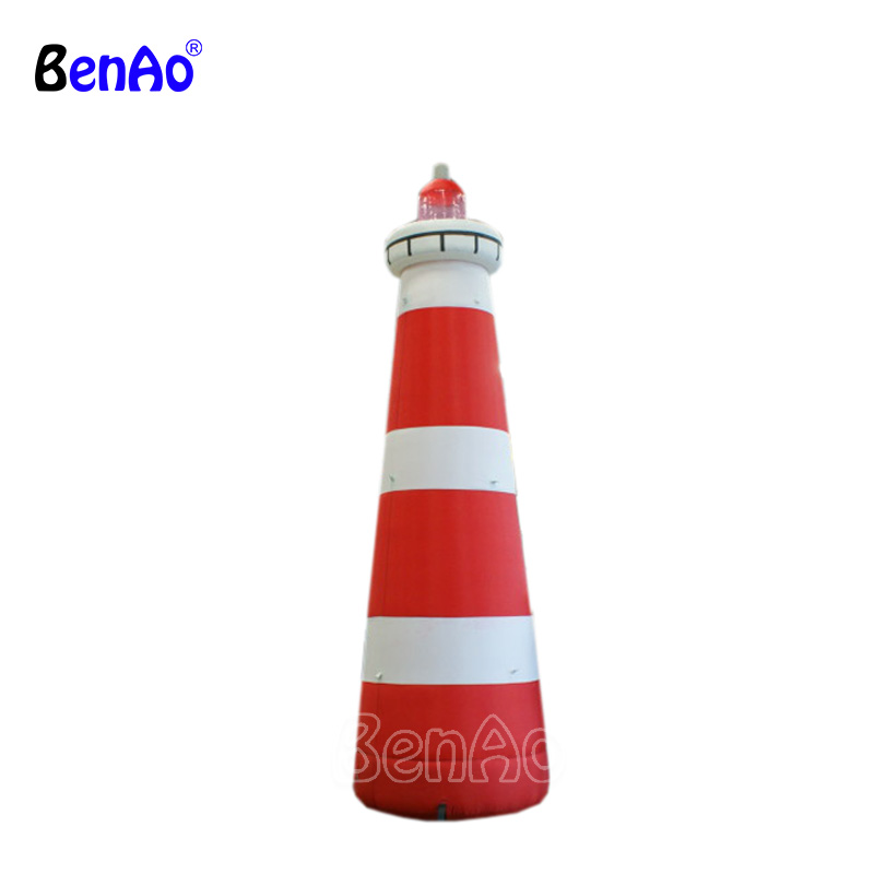 Z071 Lifelike 4m tall inflatable lighthouse replica model,commercial decoration outdoor replicas inflatable pharos model 11el lux