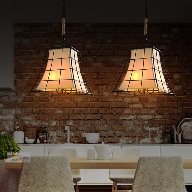 Vintage hierro cocina luces de techo moderna lámpara de techo ...