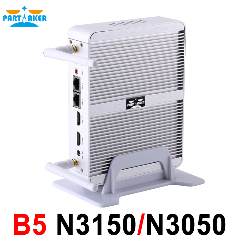 Partaker B5 5th Gen Intel 14nm Quad Core N3050 N3150 Processor Business Office Mini Pc with