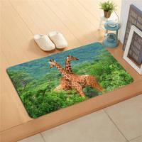 F627m12 Free Shipping Custom Giraffe Anime DoorMat Art Design Pattern Printed Floor Hall Bedroom Cool Pad
