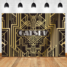 NeoBack Gatsby Backdrop 1920s Retro Party Background Photography Vinyl Gatsby Theme Birthday Party Banner Photography Backdrops bowling theme birthday backdrop let s glow party graffiti wall photography background happy birthday party banner backdrops