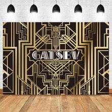 NeoBack Gatsby Backdrop 1920s Retro Party Background Photography Vinyl Theme Birthday Banner Backdrops