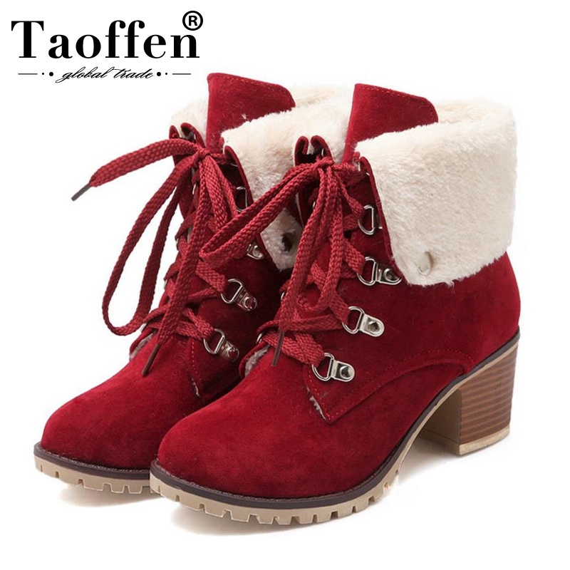 Office & School Supplies Cooperative Taoffen Fashion Women Flats Boots Warm Thick Fur Shoes Women Winter Snow Knee Boots Vintage Plush Fur Lady Shoes Size 34-43