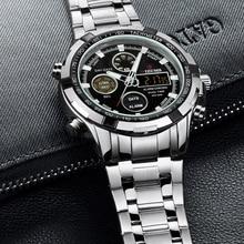 2018 New Luxury Brand Men's Dive LED Watches Men Sport Military Watch Full Steel Quartz Watch Men Wristwatches Relogio Masculino
