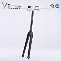 Disc brake Road Carbon fork Bike fork disc 700C Road Bicycle fork UD 1 1/2 tapered road front fork 15mm ultra light weight
