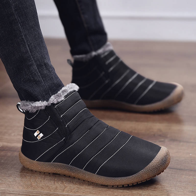 ardoisé D'hiver Plus Chaud La Botas Hombre Botte Paresseux Mode Hommes Neige Taille Chaussures Xgvokh Pour De Occasionnels Noir Bottes Confortable bleu Sur Plat Slip pgqHEwx