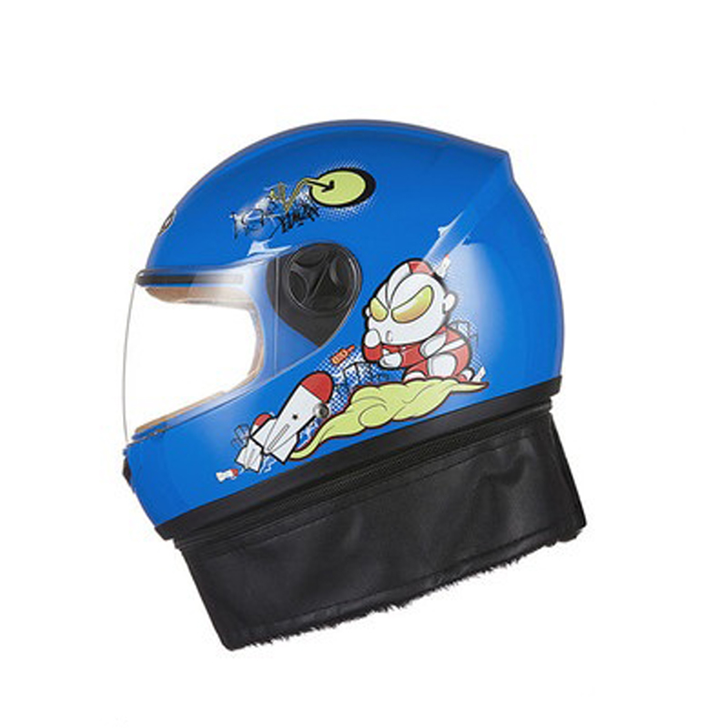 Nuovo cartone animato immagine bambino casco moto inverno