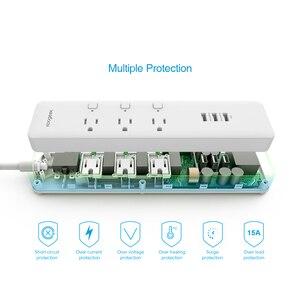 Image 2 - Koogeek tomada inteligente, individualmente controlada, wi fi, tomada de energia, com 3 portas de carregamento usb para apple homekit, controle remoto