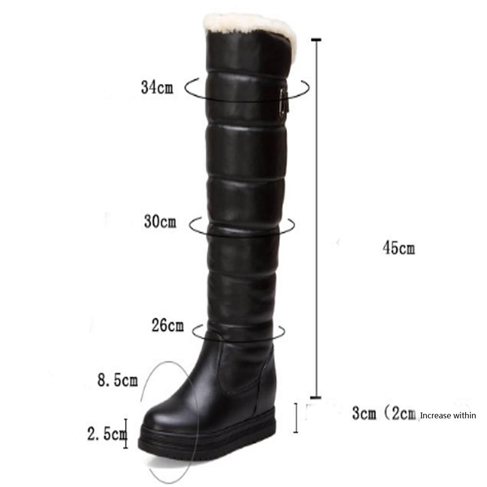 Zapatos Botas b Agua Sobre Las Caliente Prueba A Mujeres A Invierno Cuero Abajo De La Rodilla 2018 Mujer c Para Toeround Nieve Alta Muslo rpTxr6qn