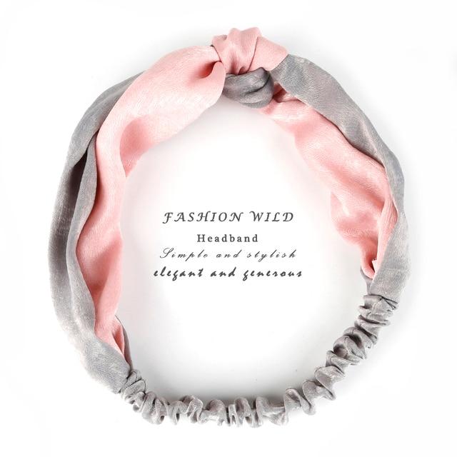 Vintage Mix 34 Colors Turban Elastic Hair Accessories Wrap Plaid Knot Headband Hair band for Women Girls Striped Headwear Gift 1