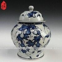 Jingdezhen ceramic Large guci minimalist ceramic jar blue and white porcelain jar storage tank decoration vase for wedding deco
