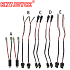 SKYJOYCE 2PCS/LOT HID XENON KIT H1 Adapter Power Cable Socket H7 9005 9006 H11 Power Wire H1 Relay cable Car Styling accessories
