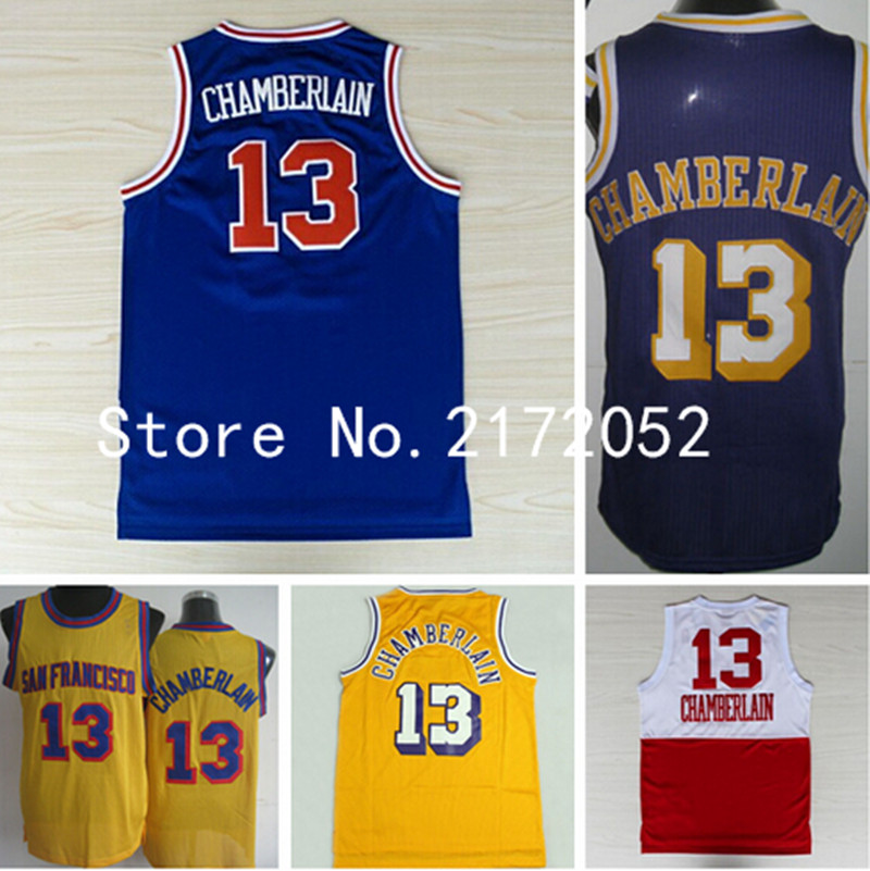 a29a34d6e Mens Retro 13 Wilt Chamberlain Jersey Throwback B..