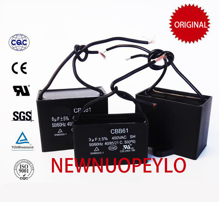 CBB61 Starting Capacitor 1uf / 1.2uf / 1.5uf / 1.8uf / 2.5uf / 3uf / 3.5uf / 4.5uf To 20uf AC Fan Capacitor 450V CBB Connector