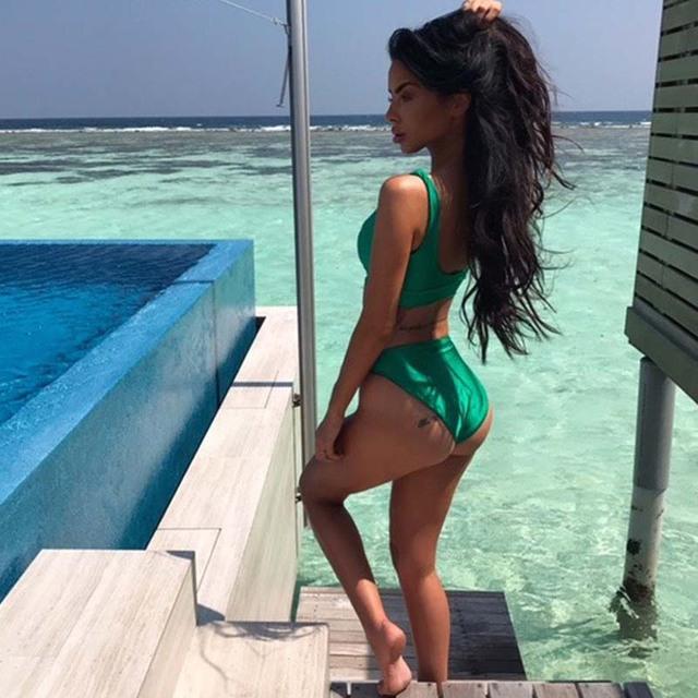 2017 High Waist Bikini Sets Swimsuit Women Maillot de bain femme Biquini Crop Top Bathing Suit Brazilian Swimwear