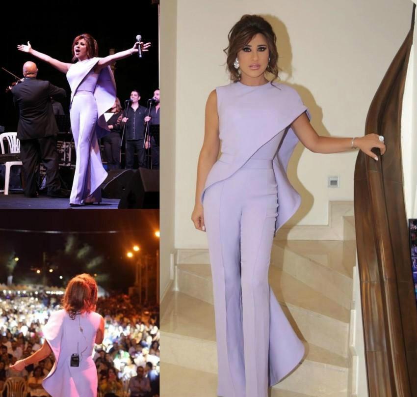 Lavender Jumpsuit Celebrity Dresses Sheath Red Carpet Holidays Graduation Wear Formal Evening Party Gowns Plus Size Custom Made