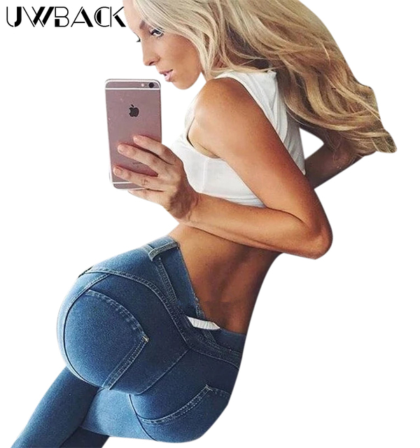 Uwback Skinny Jeans Women 2017 New Brand Freddy Pants Mujer Sexy Strench Denim Black Pencil Pants Woman TB1331