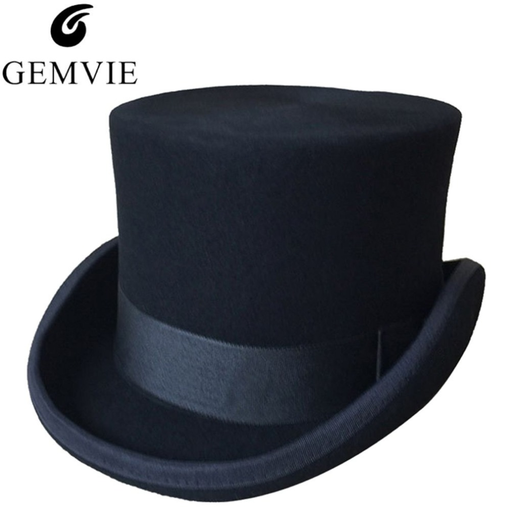 halloween cosplay magician magic caps steampunk wool top hats for women men british fedora masquerade party