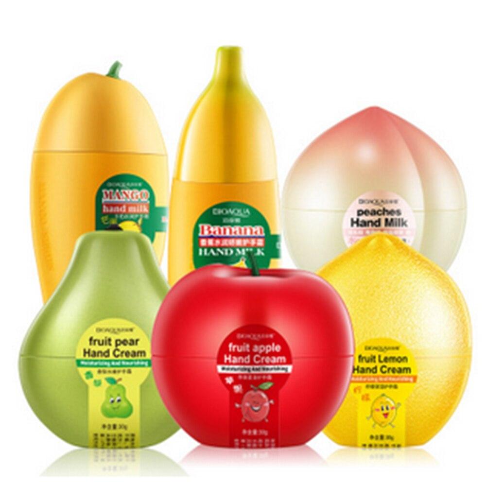 Фрукты крем для рук персики/банан/манго антивозрастной увлажняющий питательный увлажняющий крем для рук для зимы уход за руками