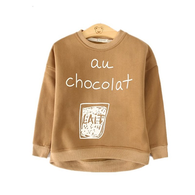 Children's clothing new boys and girls cartoon cotton long-sleeved t shirt round neck sets of sweate 2-7 years children t shirt