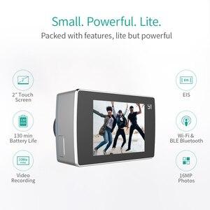 Image 2 - YI Lite caméra daction 16MP réel 4K caméra de sport avec WIFI intégré 2 pouces écran LCD 150 degrés grand Angle lentille noir