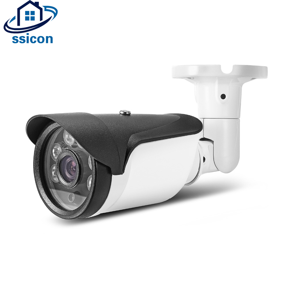 SSICON Waterproof H.265 IP Camera 2MP 4MP 6Pcs Array Leds ONVIF Bullet Outdoor Serveillance CCTV Camera Night Vision wistino cctv camera metal housing outdoor use waterproof bullet casing for ip camera hot sale white color cover case